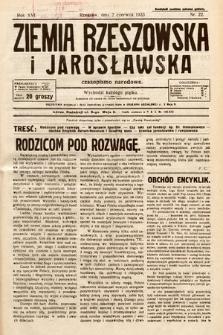 Ziemia Rzeszowska i Jarosławska : czasopismo narodowe. 1933, nr22