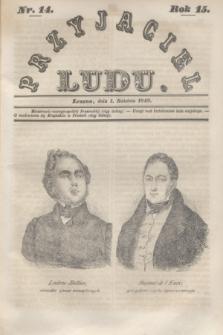 Przyjaciel Ludu. R.15, [T.1], Nr. 14 (1 kwietnia 1848)