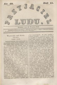 Przyjaciel Ludu. R.15, [T.2], Nr. 40 (30 września 1848)