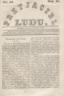 Przyjaciel Ludu. R.15, [T.2], Nr. 42 (14 października 1848)