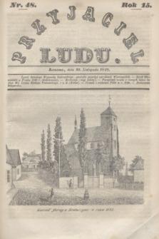 Przyjaciel Ludu. R.15, [T.2], Nr. 48 (25 listopada 1848)