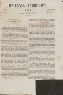 Dziennik Narodowy. R.4, [T.4], kwartał II, nr 182 (28 września 1844)