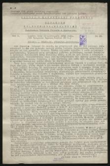 Biuletyn Prasowo-Organizacyjny Światowego Związku Polaków z Zagranicy. R.10, No 22 (30 listopada 1942)