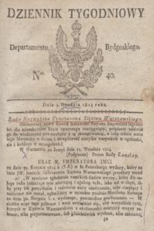 Dziennik Tygodniowy Departamentu Bydgoskiego. 1814, Ner. 40 (4 [października])