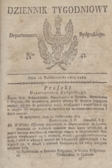 Dziennik Tygodniowy Departamentu Bydgoskiego. 1814, Ner. 42 (18 października) + dod.