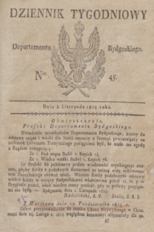Dziennik Tygodniowy Departamentu Bydgoskiego. 1814, Ner. 45 (8 listopada) + dod.