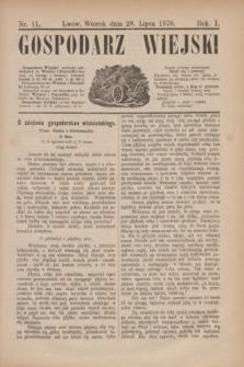 Gospodarz Wiejski. R.1, nr 11 (29 lipca 1879)