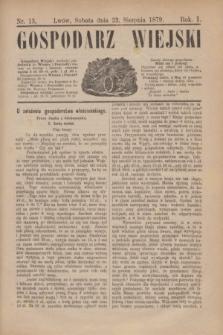 Gospodarz Wiejski. R.1, nr 13 (23 sierpnia 1879)