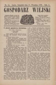 Gospodarz Wiejski. R.1, nr 14 (11 września 1879)
