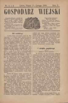Gospodarz Wiejski. R.2, nr 1 i 2 (27 lutego 1880)