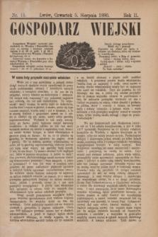 Gospodarz Wiejski. R.2, nr 15 (5 sierpnia 1880)