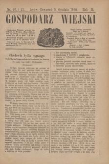 Gospodarz Wiejski. R.2, nr 20 i 21 (9 grudnia 1880)