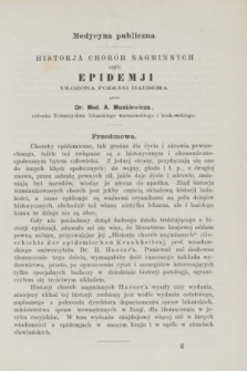 Służba Zdrowia Publicznego : czasopismo poświęcone wszystkim gałęziom umiejętności lekarskiej, ze szczególnym względem na medycynę publiczną. 1872, [T.1], [z. 2] ([luty])