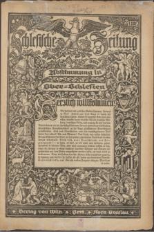 Schlesische Zeitung. [1921]
