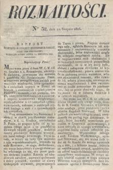 Rozmaitości : oddział literacki Gazety Lwowskiej. 1826, nr32