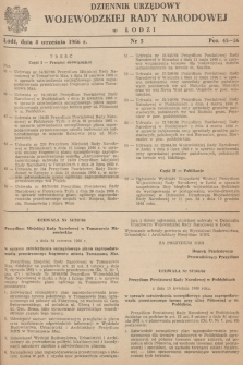 Dziennik Urzędowy Wojewódzkiej Rady Narodowej wŁodzi. 1966, nr 5