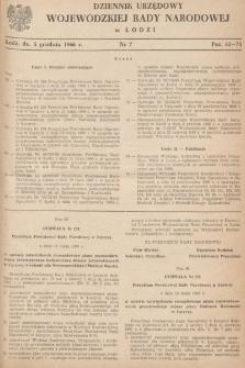 Dziennik Urzędowy Wojewódzkiej Rady Narodowej wŁodzi. 1966, nr 7