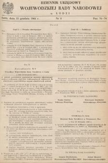 Dziennik Urzędowy Wojewódzkiej Rady Narodowej wŁodzi. 1966, nr 8
