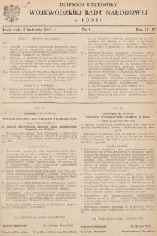 Dziennik Urzędowy Wojewódzkiej Rady Narodowej wŁodzi. 1967, nr 4