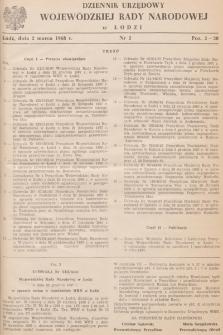 Dziennik Urzędowy Wojewódzkiej Rady Narodowej wŁodzi. 1968, nr 2
