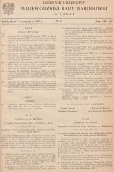 Dziennik Urzędowy Wojewódzkiej Rady Narodowej wŁodzi. 1968, nr 9