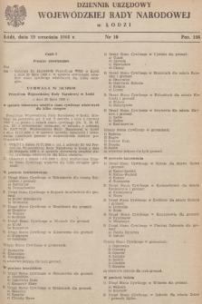 Dziennik Urzędowy Wojewódzkiej Rady Narodowej wŁodzi. 1968, nr 10