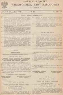 Dziennik Urzędowy Wojewódzkiej Rady Narodowej wŁodzi. 1968, nr 13