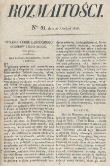 Rozmaitości : oddział literacki Gazety Lwowskiej. 1826, nr51