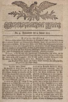 Schlesische privilegirte Zeitung. 1819, No. 4 (9 Januar) + dod.
