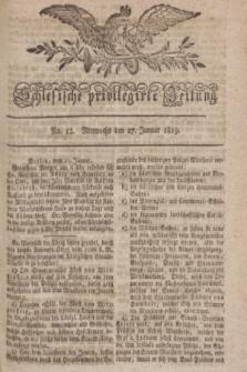 Schlesische privilegirte Zeitung. 1819, No. 12 (27 Januar) + dod.