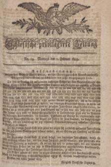 Schlesische privilegirte Zeitung. 1819, No. 14 (1 Februar) + dod.