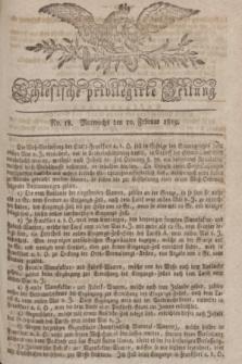 Schlesische privilegirte Zeitung. 1819, No. 18 (10 Februar) + dod.