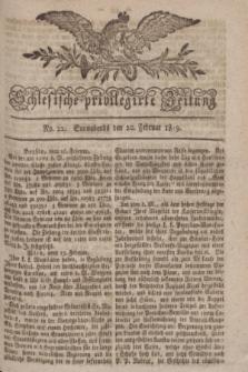 Schlesische privilegirte Zeitung. 1819, No. 22 (20 Februar) + dod.