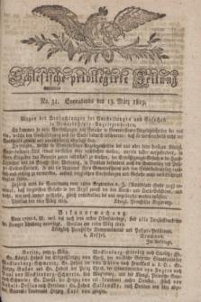 Schlesische privilegirte Zeitung. 1819, No. 31 (13 März) + dod.