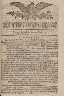 Schlesische privilegirte Zeitung. 1819, No. 34 (20 März) + dod.