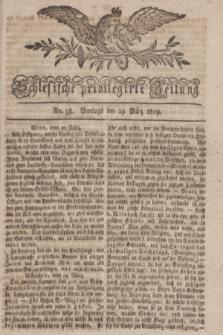 Schlesische privilegirte Zeitung. 1819, No. 38 (29 März) + dod.