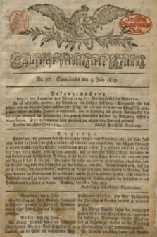 Schlesische privilegirte Zeitung. 1819, No. 77 (3 Juli) + dod.