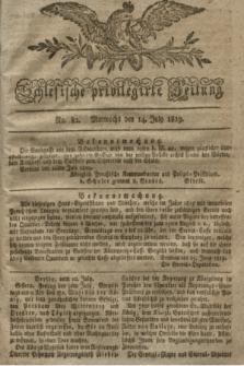 Schlesische privilegirte Zeitung. 1819, No. 82 (14 Juli) + dod.