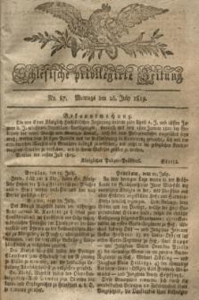 Schlesische privilegirte Zeitung. 1819, No. 87 (26 Juli) + dod.