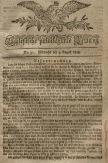 Schlesische privilegirte Zeitung. 1819, No. 91 (4 August) + dod.