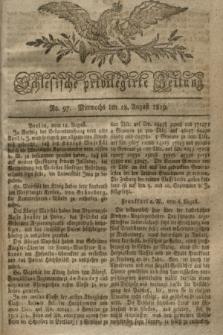 Schlesische privilegirte Zeitung. 1819, No. 97 (18 August) + dod.