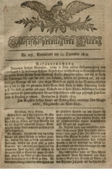 Schlesische privilegirte Zeitung. 1819, No. 107 (11 September) + dod.
