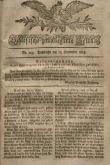 Schlesische privilegirte Zeitung. 1819, No. 109 (15 September) + dod.