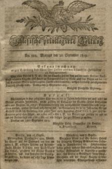 Schlesische privilegirte Zeitung. 1819, No. 111 (20 September) + dod.
