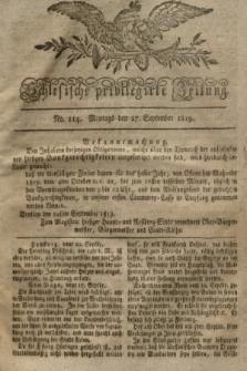 Schlesische privilegirte Zeitung. 1819, No. 114 (27 September) + dod.