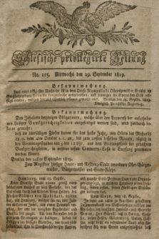 Schlesische privilegirte Zeitung. 1819, No. 115 (29 September) + dod.