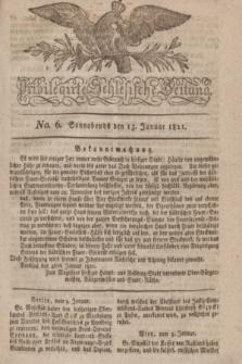 Privilegirte Schlesische Zeitung. 1821, No. 6 (13 Januar) + dod.
