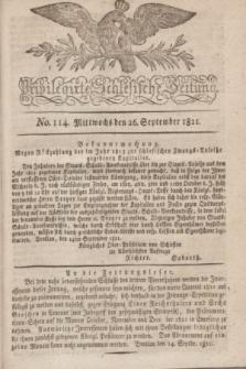 Privilegirte Schlesische Zeitung. 1821, No. 114 (26 September) + dod.