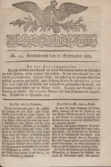 Privilegirte Schlesische Zeitung. 1823, No. 114 (27 September) + dod.