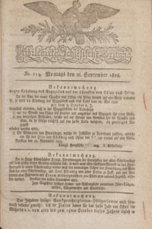 Privilegirte Schlesische Zeitung. 1825, No. 114 (26 September) + dod.